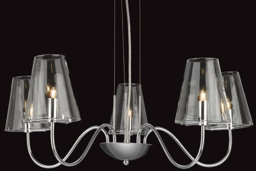 Firstlight 4233CH Chrome with Clear Glass Jasmine 5 Light Fitting